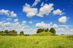Schöne ländliche Sommerlandschaft Stockbilder