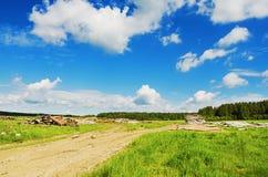 Schöne ländliche Sommerlandschaft Stockfotografie