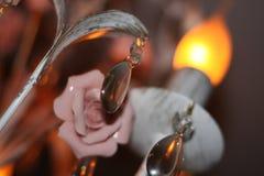 Schöne Lampe mit Blumendekor Lizenzfreie Stockfotos