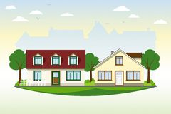 Schöne Landhäuser vektor abbildung
