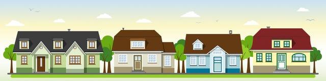 Schöne Landhäuser lizenzfreie abbildung
