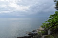 Schöne Landschaft am Affeberg Khao Takiab in Hua Hin, Thailand, Asien Stockbilder