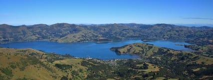 Schöne Landschaft auf der Bank-Halbinsel, Neuseeland Stockbilder