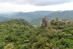 Schöne Landschaft bei Masungi Georeserve, Rizal stockfotografie