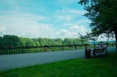 Schöne Landschaft, Brücke Stockbild