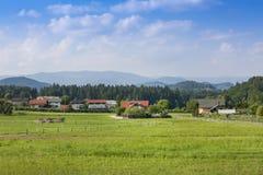 Schöne Landschaft in den bayerischen Alpen Stockbild