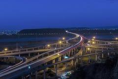 Schöne Landschaft der Autobahn in Taiwan stockbilder