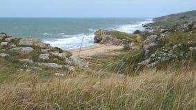 Schöne Landschaft der Seeküste stock video footage