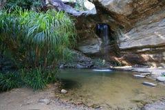 Schöne Landschaft des Sangchan Wasserfalls in Ubo Lizenzfreies Stockbild