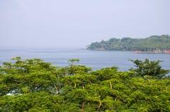 Schöne Landschaft die Andamansky-Insel, zum von Blair India zu tragen Lizenzfreie Stockfotografie