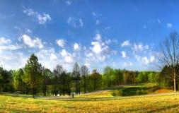 Schöne Landschaft in einem Park Stockbilder