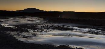 Schöne Landschaft entlang der Straße in Richtung zu Quetena Chico - Bolivien Stockbilder