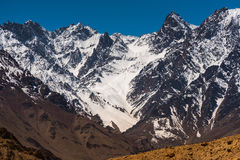 Schöne Landschaft im Himalaja-Berg mit blauem Himmel, Leh Ladakh stockfotografie
