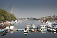 Schöne Landschaft im Park Ada Ciganlija Lizenzfreie Stockfotos