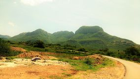 Schöne Landschaft in meinem Dorf lizenzfreie stockfotos