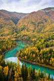 Schöne Landschaft mit dem Fluss Lizenzfreie Stockbilder