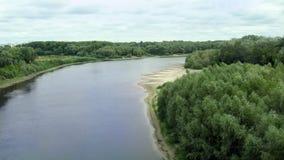 Schöne Landschaft mit Desna-Fluss in Chernihiv Lizenzfreies Stockbild