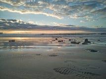 Schöne Landschaft mit drastischen Wolken in Strand EL Medano, Teneriffa, Kanarische Inseln, Spanien stockbilder