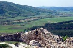 Schöne Landschaft mit Ruinen Stockbild