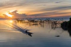 Schöne Landschaft morgens bei Pakpra Lizenzfreie Stockfotos