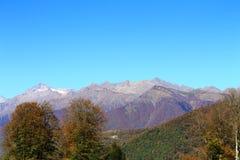 Schöne Landschaft Rosa Khutor-Bergblicke stockbild