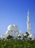 Schöne Landschaft Sheikh Zayed Mosque in Abu Dhabi UAE Lizenzfreie Stockbilder