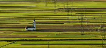 Schöne Landschaft Sloweniens, Natur und Herbstszene Lizenzfreies Stockfoto