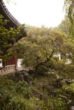 Schöne Landschaft in Suzhou China mit Pagode lizenzfreies stockfoto