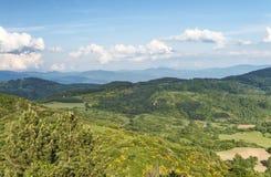 Schöne Landschaft und Hügel in Toskana, Italien Stockbilder