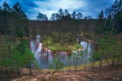 Schöne Landschaft von Ūla-Flussbiegung Lizenzfreie Stockfotografie
