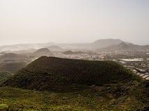 Schöne Landschaft von Arona in Teneriffa lizenzfreie stockfotos