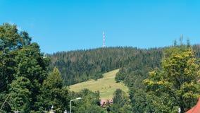 Schöne Landschaft von Bergen, Ansicht bei Zakopane Stockbild