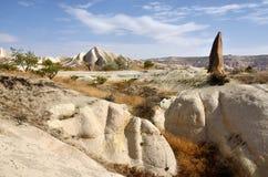 Schöne Landschaft von Cappadocian-Vulkanbergen, die Türkei Stockbilder