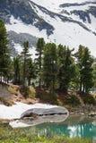 Schöne Landschaft von Hochländern von Altai-Bergen Stockbild