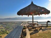Schöne Landschaft von Maehongson Stockbild