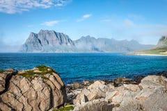Schöne Landschaft von Norwegen, Skandinavien stockfotografie