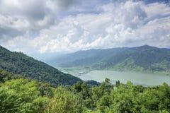 Schöne Landschaft von Pokhara-Tal Stockbilder