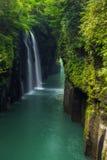 Schöne Landschaft von Takachiho-Schlucht und -wasserfall in Miyazaki Stockbilder