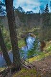 Schöne Landschaft von Ula-Flussbiegung lizenzfreie stockbilder