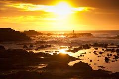 Schöne Landschaft von Waikawa-Bucht in Sonnenaufgangzeiten, Südinsel, Neuseeland Stockfoto