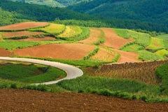 Schöne Landschaft in Yunnan, Porzellan (1) Lizenzfreies Stockbild