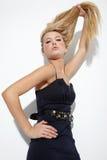 Schöne langhaarige Blondine Stockfotos