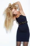 Schöne langhaarige Blondine Lizenzfreie Stockfotografie