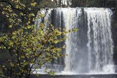 Schöne langsame Belichtungszeit auf Wasserfällen in Südwales Lizenzfreie Stockbilder