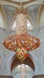 Schöne Laterne in der Moschee Stockbild