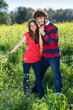 Schöne liebevolle junge Paare Lizenzfreies Stockfoto