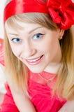 Schöne lustige junge blonde Pinupfrau Lizenzfreies Stockbild