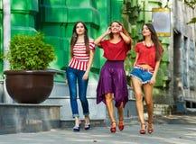 Schöne Mädchen auf Weg lizenzfreie stockfotografie