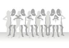 Schöne Mädchen der vorbildlichen Haltung Lizenzfreie Stockbilder