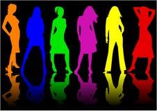 Schöne Mädchen - Farbe Lizenzfreie Stockbilder